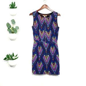 Mara Hoffman Colorful Sleeveless Silk Zip Dress